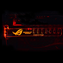 Red REPUBLIC OF GAMERB Cool LED Luminous Computer Main Box HIS Graphics Cards Custom Support Frame Display Card Components Jack