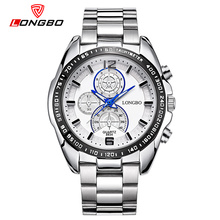 LONGBO Famous Brand Men Quartz Watches Cool Big Dial Fashion Sports Watch Steel Strap Military Relojes Best Gifts For Boyfiends