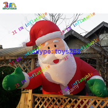 4m/5m/6m high inflatable santa claus garden decorate Xmas santa claus old man professional inflatable santa claus cartoon(China)