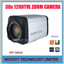 "Free Shipping 1/3"" 0130 CMOS 1200TVL 30x Optical 3~90mm Varifocal Lens  HLC DNR Security CCTV Zoom Camera"