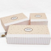 10 Sets THANKS Pink Printed Chocolate Packaging Box Cookie Paper Box Carton Box for Cake Macaron Gift Box Caixa Carton