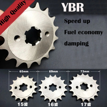 For YAMAHA YBR125 TT-R110 for HONDA CT110 FOR BETA125 motorcycle YBR 125 428 CHAIN front sprocket 14 15 16 17 teeth sprockets(China)