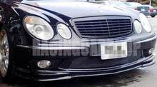 FRONT BUMPER ADD REAL CARBON FIBER FRONT LIP SPOILER FOR BENZ W211 E-Class E55 2003-2006 M036(China)