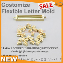 Flexible Letters CNC Engraving Mold Hot Foil Leather Stamping Custom Number Alphabet Symbol Customization Font Character Mold