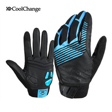 CoolChange Winter Warm Men's Cycling Gloves Waterproof Bike Gloves Full Finger Touch Screen Leather MTB Bicycle Gloves Women
