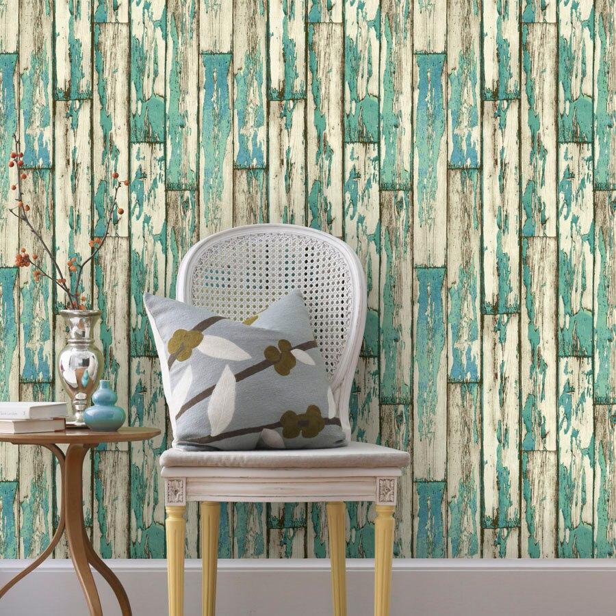 Country Retro Wooden Pattern 3D Wallpaper Vintage wood 3D mural wallpaper Living room bedroom background wallpaper<br>