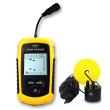 Lucky Brand Fish Finder Portable Fish Finder Depth Sonar Sounder Alarm Waterproof Carp Fishing 100M 328Feet Sonar 1108(China)