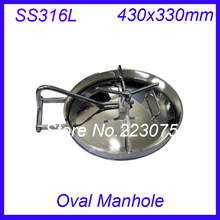 430x330mm SS316L Stainless Steel Oval Manhole Cover Manway tank door way(China)