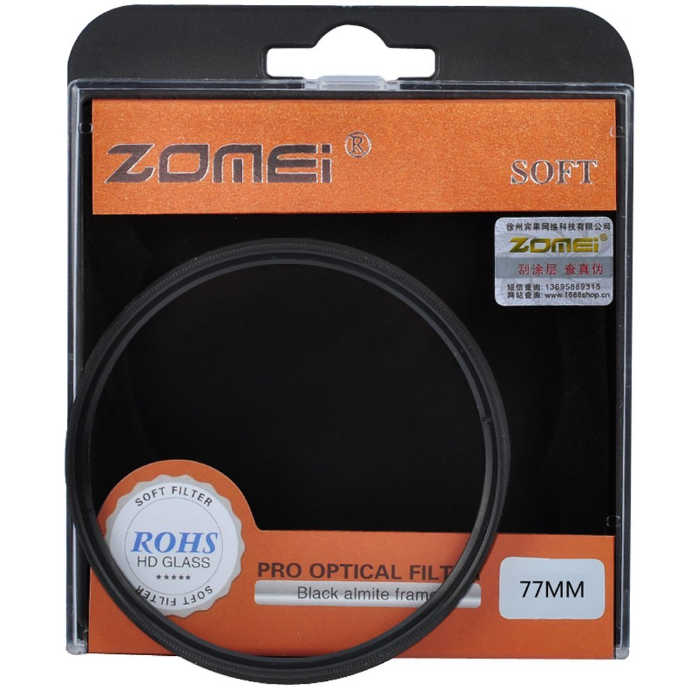 Zomei 77mm SF Filter Soft Focus Effect Diffuser Filter Hazy Filter For Nikon 24-120mm Canon 16-35mm 70-200mm Sony 24-70mm DSLR(China)