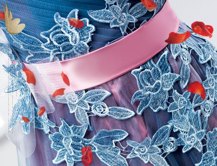 VENSANAC New A Line 2018 Embroidery V Neck Long Evening Dresses Short Cap Sleeve Elegant Draped Sash Party Prom Gowns 6