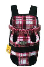 Canvas Grid Design Pet Legs Out Front Carrier/Bag dog carrier Free Shipping By China Post