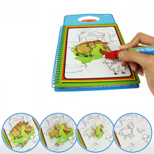 Drawing Toys Magic Water Drawing Book with 1 Magic Pen Children's Educational Coloring Book Kid's Learing Drawing Toy(China)