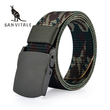 Buy SAN VITALE Automatic Buckle Nylon Belt Male Army Tactical Belt Mens Military Waist Canvas Belts Cummerbunds High Strap for $8.50 in AliExpress store