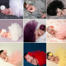 12 Colors Newborn Photography Props Infant Costume Outfit Princess Baby Tutu Skirt Headband Baby Photography Props