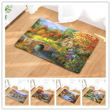 Buy Landscape Oil Painting Mats Washable Rugs Keep Warm Carpet Bedroom Non-slip Floor Mats Area Rug Living Room for $5.44 in AliExpress store
