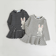Striped Girls Dress Autumn Spring Baby Girls Clothes Brand New 2018 Children Clothing 1-6Years Casual Kids Dresses Girls