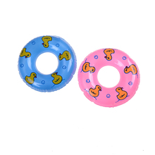 1 Pcs Little Duck Print Swimming Buoy Lifebelt Ring For Barbie Doll Accessories For Monster toys dolls 2 Color(China)