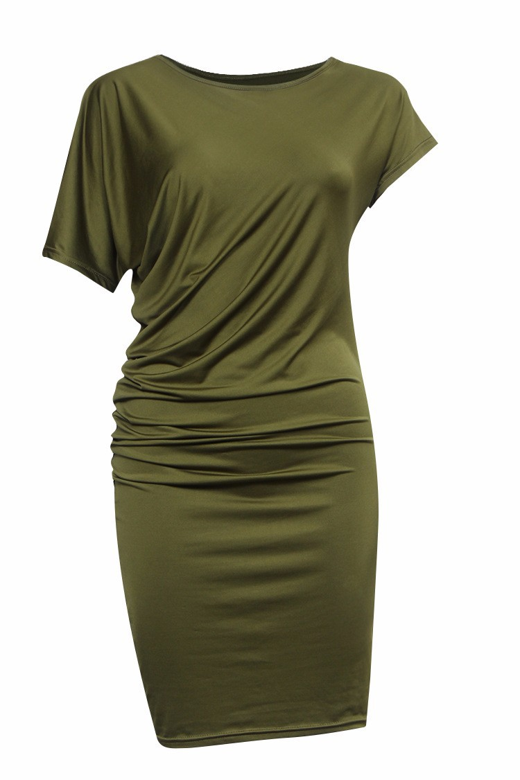 2018 Summer New Fashion Women Dress Casual Short Sleeve dresses Sexy Party Dress Party Packages Hip Pencil 7