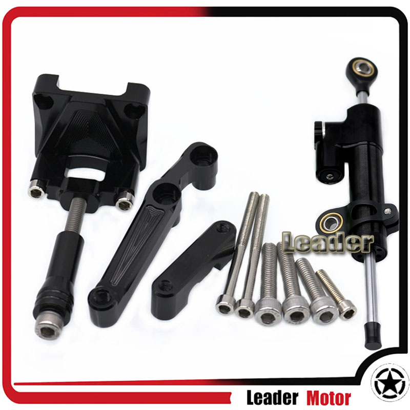 For KAWASAKI NINJA300 NINJA250 NINJA 250 NINJA 300 Motocrycle Street Bike Steering Damper Mounting Kit Stabilizer Adjustable<br>