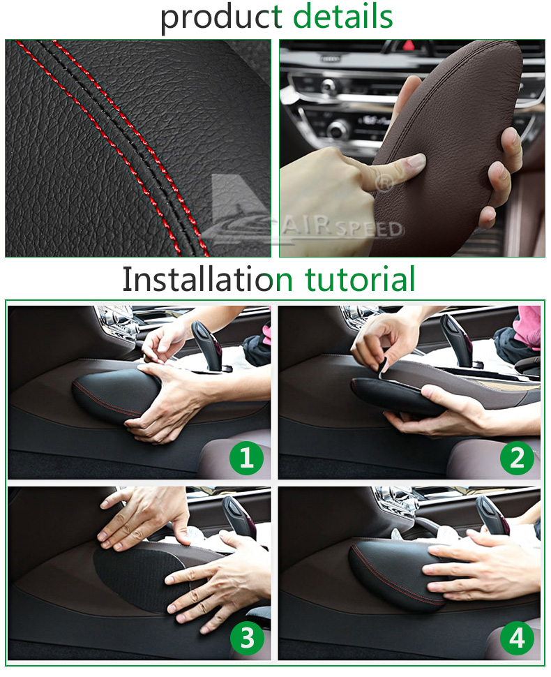 Leather Leg Cushion Knee Pad Thigh Support Pillow Interior Car Accessories for BMW E46 E39 E60 E90 E36 F30 F10 X5 Z4 7 (10)