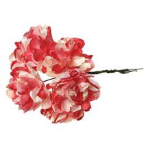 "Paper Artificial Chrysanthemum Flower Decoration Millinery Red 9.0cm(3 4/8""),1 Packet(Approx 144 PCs/Packet)"