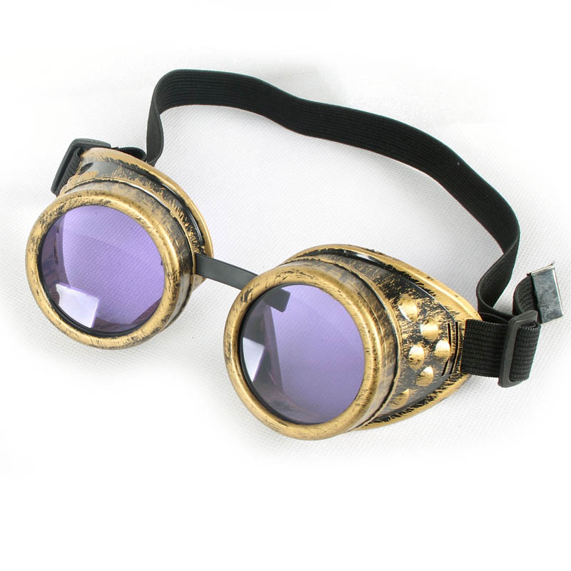 Unisex Gothic Vintage Vitoriano Style Steampunk Goggles 7 Colors Sunglasses Dress Decor Welding Punk Gothic Glasses<br><br>Aliexpress