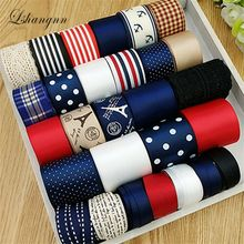 10 design Diy accessory material accessories bow hairpin cotton lace printe mixed ribbon set Handmade Craft Packing Materia