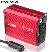 Onever 300W Car Inverters Power DC 12V to AC 110V Inverter Dual USB Outlets Modified Sine Wave Power Car Electronics Accessorie