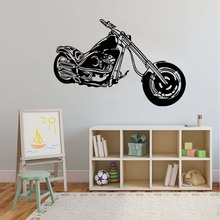 Retro Classic Motorcycle Machine Wall Stickers Diy Removable Vinyl Poster Chopper Wall Sticker Decal Mural Decor For Play Room(China)