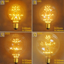Buy G80 G95 G125 2W LED Bombilla Edison Lamp E27 Vintage Bulb Light Lampada Edison Bulb Retro Lamp Ampoules Decoratives for $8.87 in AliExpress store