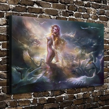 A895 Sexy Girl Naked Swan Lake Figures Scenery.HD Canvas Print Home decoration Living Room bedroom Wall pictures Art painting