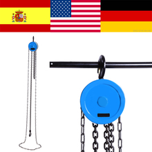 500kg Pulley Chain Block Chain Hoist Polipasto Cable Hand Control Pulley Crane 2.5m Manual Block Lift Pulley Lifting(China)