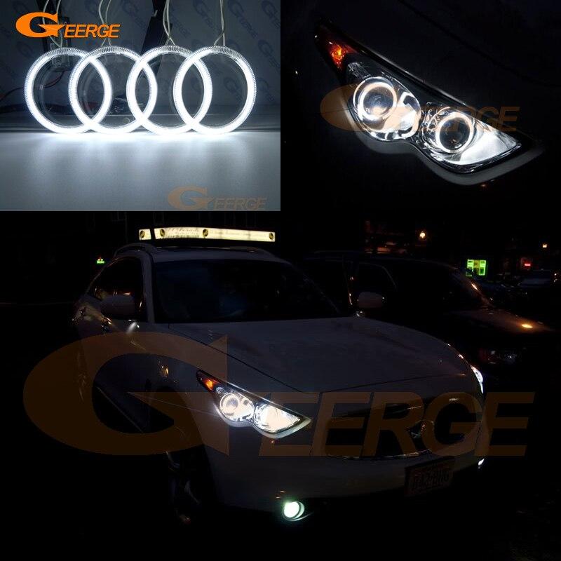 For Infiniti FX35 FX37 FX50 QX70 2009-2017 Excellent angel eyes Ultra bright illumination CCFL Angel Eyes kit halo rings<br>