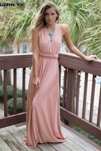 Buy Vestido 2017 Summer Maxi Dress Women Pink Beach Long Bandage Multiway Convertible Dresses Infinity Wrap Robe Dress for $13.94 in AliExpress store