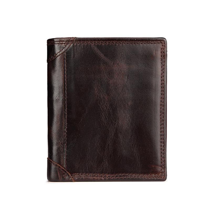 Male Vintage Wallet Designer 100% Genuine Carteiras Masculinas Cowhide Leather Short Purse Card Holder Coin Pocket Male Cuzdan<br><br>Aliexpress