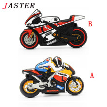 JASTER motorcycle U disk pen drive keychain gift pen drive 8gb 16gb 32gb moto car cartoon usb flash drive autobike pendrive