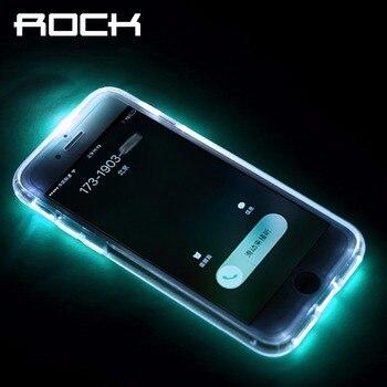 Rock telefone flash led case para iphone 7 7 plus, flash de luz de aviso de chamada tubo série phone case para iphone 7/7 plus capa