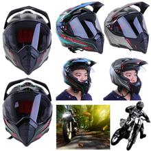 VODOOL Motorcycle Helmet ABS Full Face Helmet with Lens for Dirty Bike ATV Road Downhill Racing Motorcycle Helmet(China)