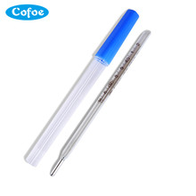 2PCS Cofoe  Hot Sale Classical Mercury Glass Thermometers Clinical Medical Temperature Measurement
