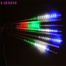 High Quality 30CM LED Lights Meteor Shower Rain Snowfall Xmas Tree Garden Outdoor(China)
