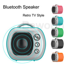20pcs Retro TV Bluetooth Mini Speakers Wireless Portable Amplifier TF Card MP3 Music Player Outdoor Cute Sound Box with Lanyard(China)