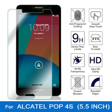9D 2.5D premium tempered glass for alcatel pop 4s screen protector lcd film for alcatel one touch pop 4s 5095 5095k 5095y 5.5""