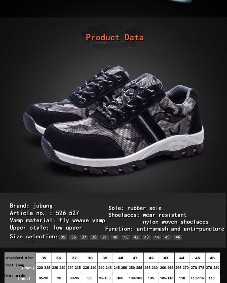 Security Steel Toe Fashion Men Type Sport Safety Shoes