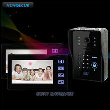 "HOMSECUR Hardwired 7"" LCD Home Entry Security Video Doorbell Door Phone Intercom System Remote Control(China)"