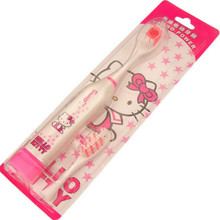 Cartoon Electric Toothbrush Hello Kitty Pattern with 1 Replacement ToothBrush Head Oral Hygiene Bathroom Supplies
