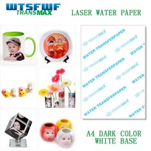 Wtsfwf freeshipping laser or inkjet water slide decal paper water transfer printing paper 20sheets clear and 20sheets A4(China)
