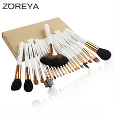 ZOREYA Brand 22pcs Sable Hair Professional Makeup Brush Set High Quality Make Up Brushes Fan Powder Makeup Brushes Kit