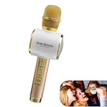 Q911 Mini Bluetooth Karaoke Microphone with Dual Speakers Wireless Professional Player speaker for iOS Android Smart Phones PC