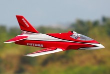 FMS RC Airplane Futura Red 80mm Ducted Fan EDF Jet High speed Big Scale Model Plane Aircraft PNP 6S Wingspan 1060mm with Retract