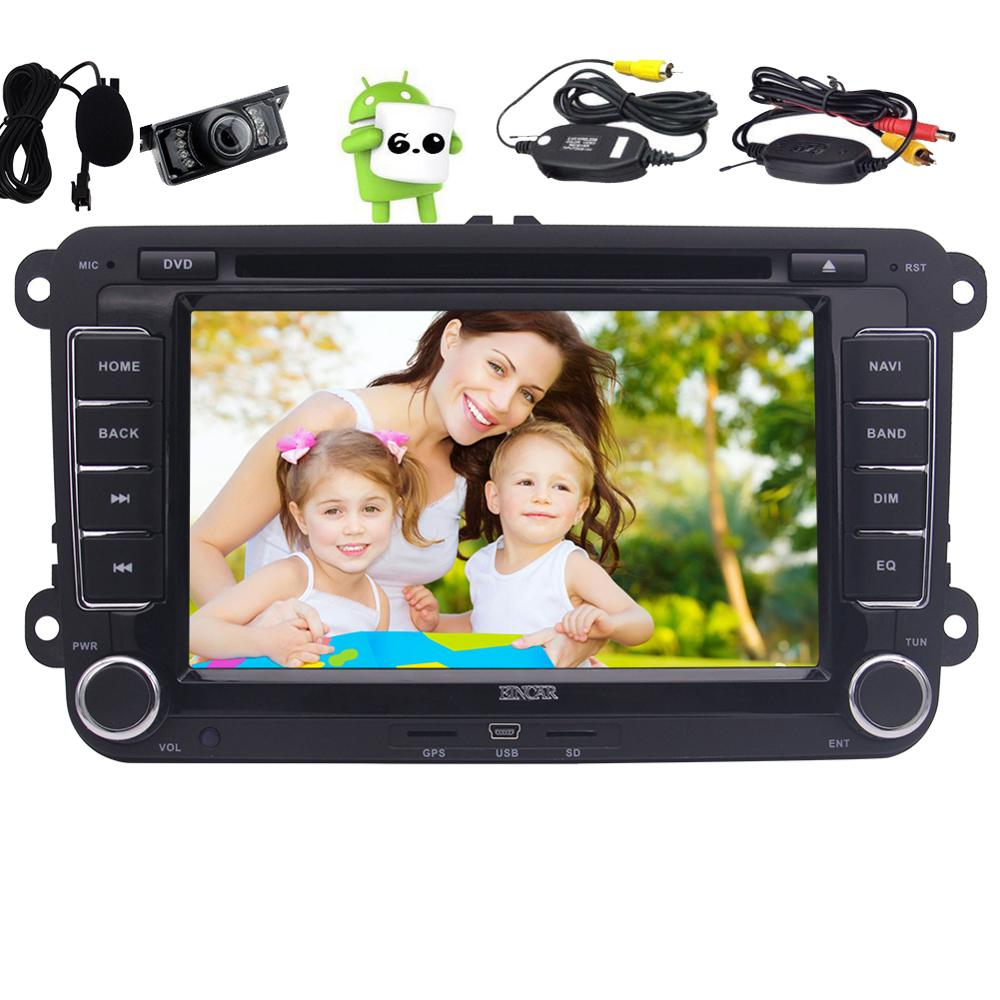 Android 6.0 Autoradio GPS Car DVD Player 2 din Stereo Headunit For Volkswagen Passat Golf Jessta Wifi navigation CanBus+Camera